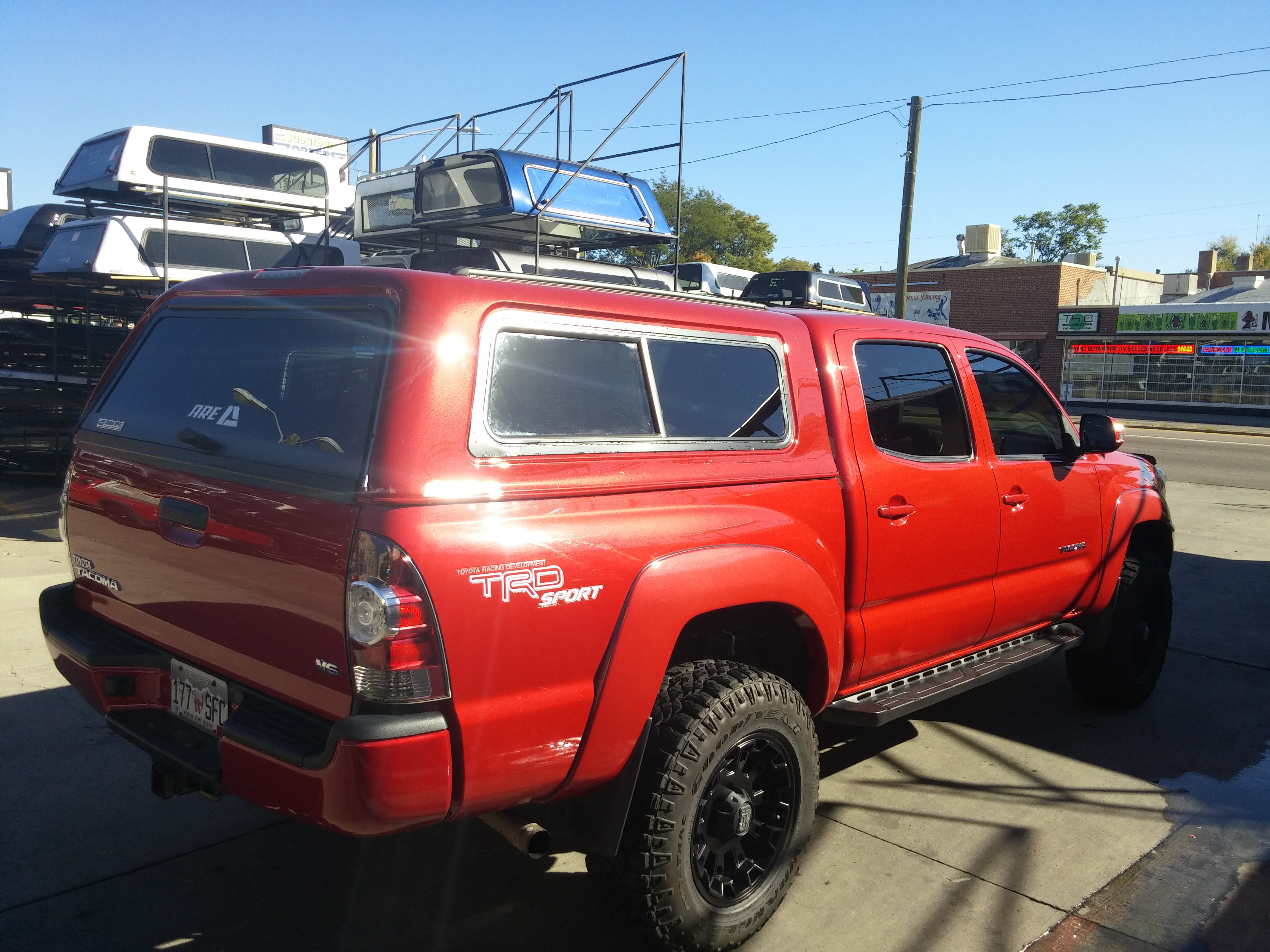 Toyota Of Lakewood >> Tacoma, Red & Black wheels, ARE V-Series - Suburban Toppers