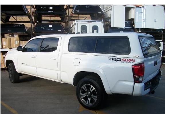 Toyota Tacoma Topper For Sale >> 2016 Toyota Tacoma V White Suburban Toppers