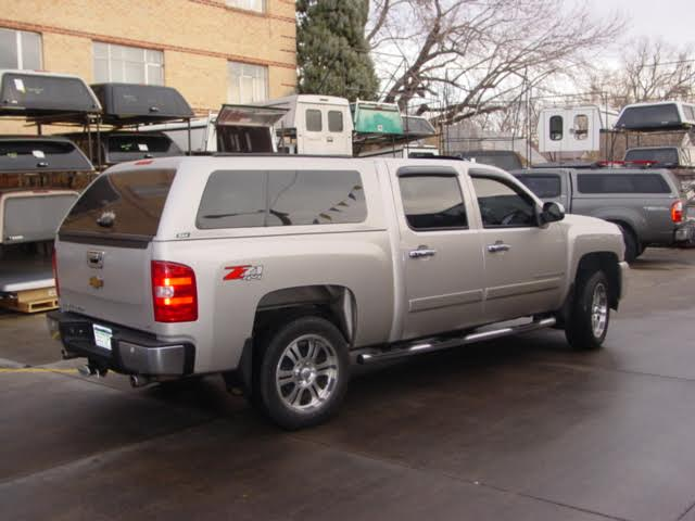 Z-Series-Chevy-silver-camper-shell-colorado-springs-colorado