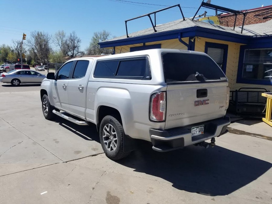 2016 GMC Canyon Z Series Topper Side Sliders