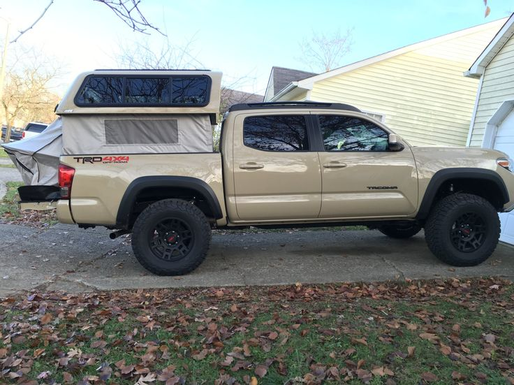 Toyota Tacoma With Cap >> 2016 Tacoma, ARE V-Series, EZ-Topper Lift - Suburban Toppers