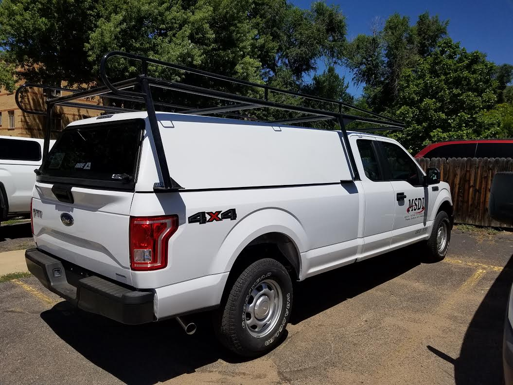 Gmc Colorado Springs >> 2016 F150 XC LB, V-Series, ColminnX Ladder Rack - Suburban Toppers