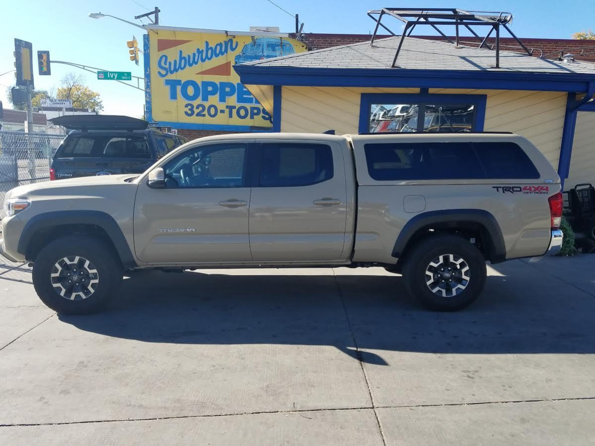 2017 tacoma quicksand are z series suburban toppers. Black Bedroom Furniture Sets. Home Design Ideas