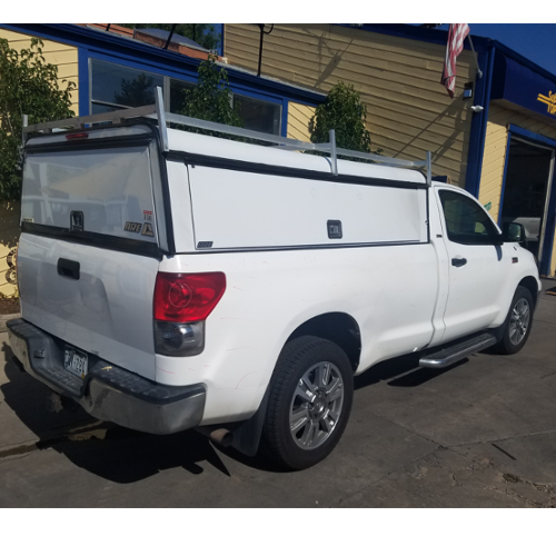 Tundra-Long-Bed-Used-Camper-Shell-White-ARE-DCU - Suburban Toppers